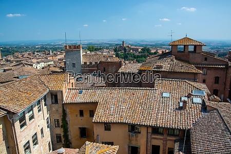 aerial view siena tuscany italy