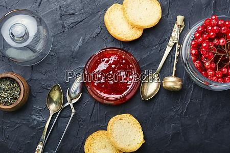 berry jam in a jar