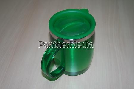 closeup perspective view of a mug