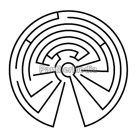 maze in the shape of a