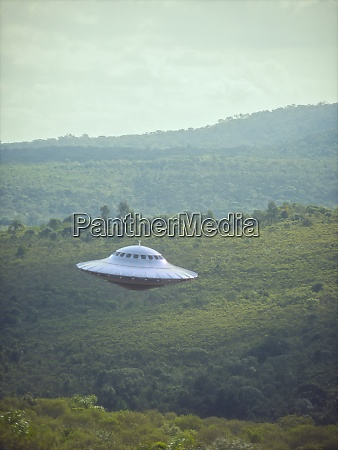 unidentified flying object and mountain ranges
