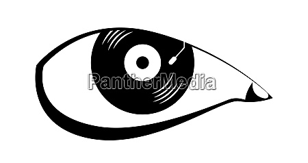 vector eye in graphic style