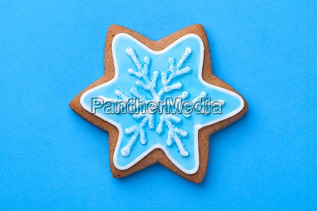 beautiful christmas gingerbread cookie
