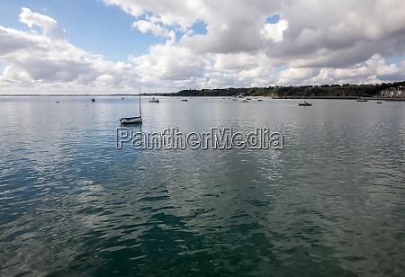 fishing boats and yachts moored