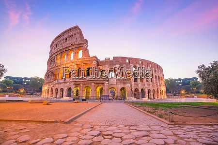 view of colosseum in rome at