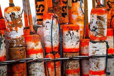 marking buoys ina polish seaport