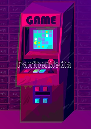 vector arcade machine in gradient style