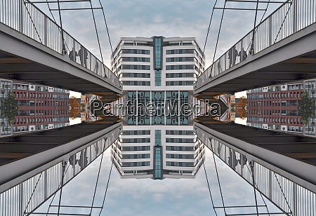 architecture bridge mirrored