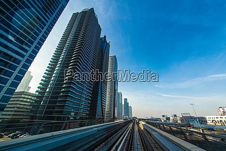 uae dubai skyline visible from the
