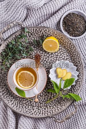 healthy detox ginger and sage tea