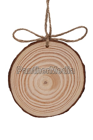 a blank wooden disc with a