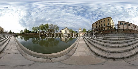 piovego river and view of porta