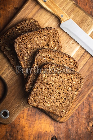 dieting cereal bread with sunflower seeds