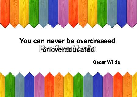 phrase of oscar wilde on white