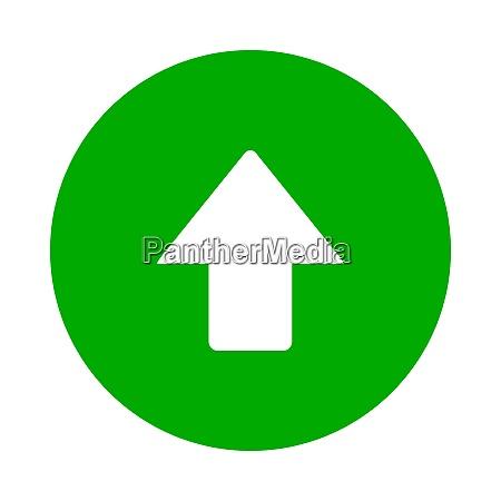 up arrow and circle