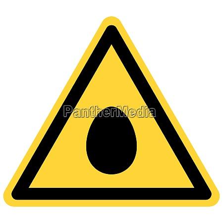 egg and danger sign
