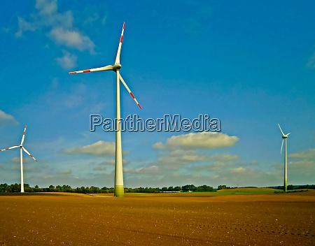 wind turbine in a wind park