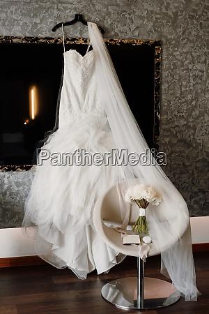 perfect white wedding dress on the