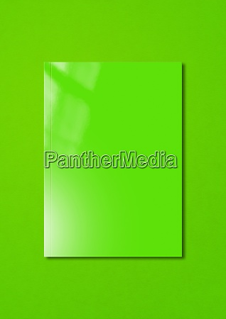 green booklet cover template on colorful