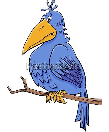 cartoon fantasy blue bird comic character