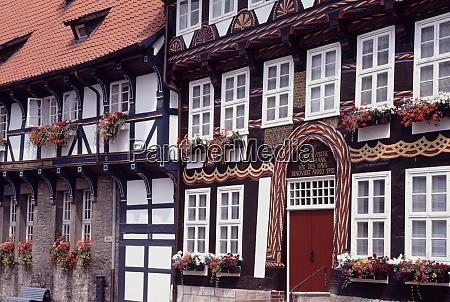 old town of bad gandersheim in