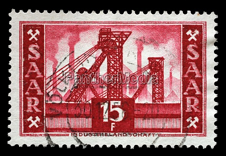 stamp issued in germany saarland