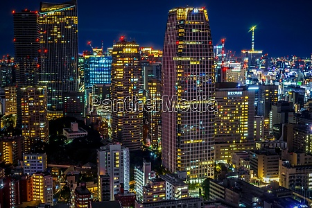 tokyo night view as seen from