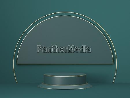 mock up podium for product presentation