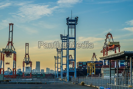 crane group of yokohama port and