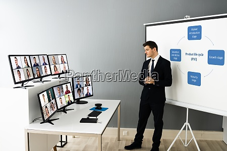 online live training video conference with