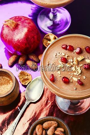 milk sweet dessert with cocoa