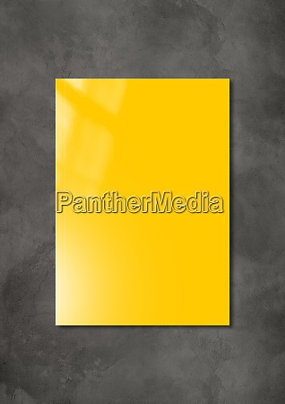 yellow booklet cover template on dark