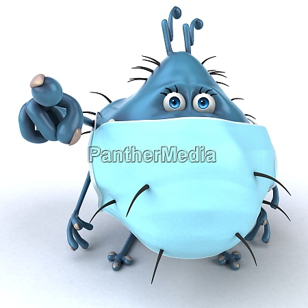 fun 3d illustration of a cartoon