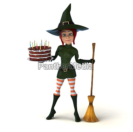 sexy witch 3d illustration