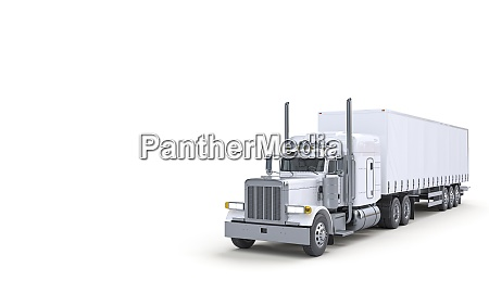 white truck for transportation logistics and