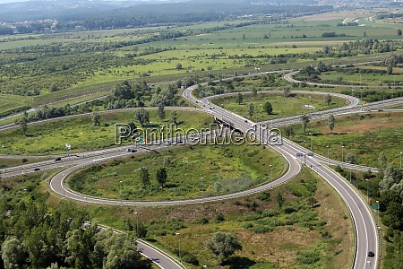 aerial shot of highway a1 near