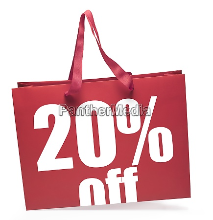 red color shopping bag 20 discount