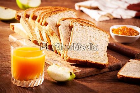 loaf bread slices for breakfast