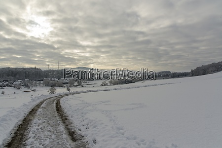 winter landscape in the eifel in