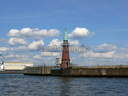 tower with radar in the port