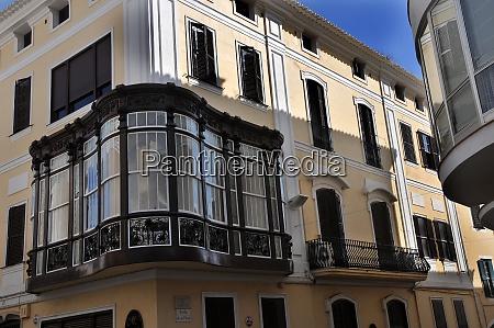 facade in mahon on menorca