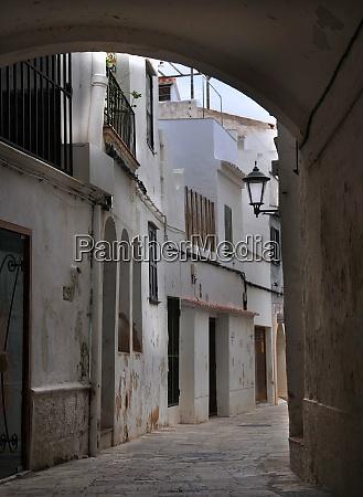 alley in mahon on menorca