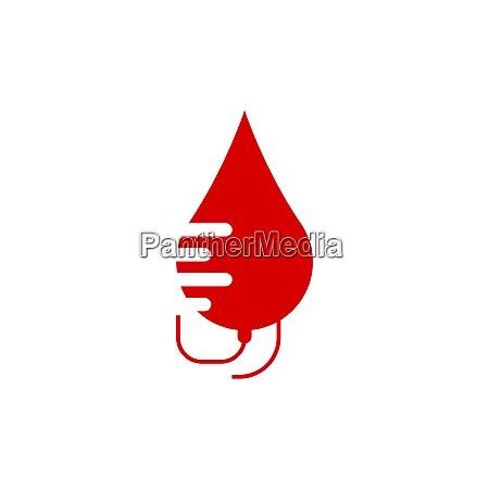 blood logo icon design vector illustration