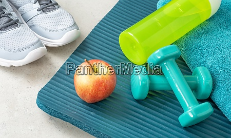 sport and fitness equipment close