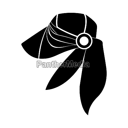 business woman neck scarf icon