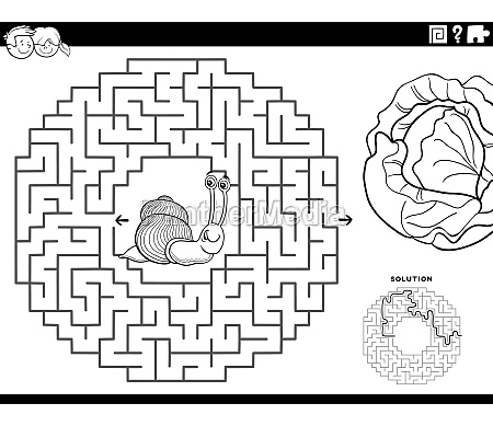 maze game with snail and lettuce