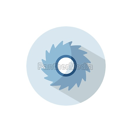 hurricane category five flat icon on