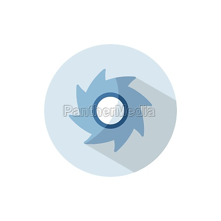 hurricane category four flat icon on