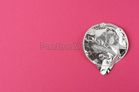 round aluminum thin lid for plastic