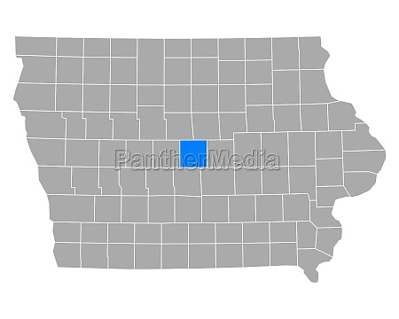 map of story in iowa